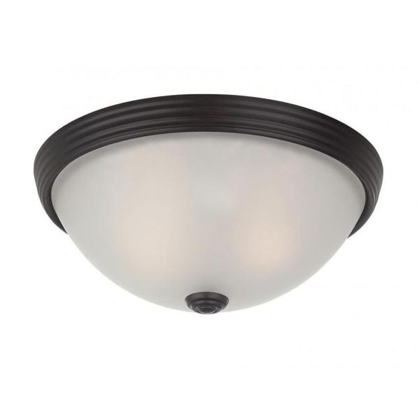 Lisa 2-Light English Bronze Flush Mount