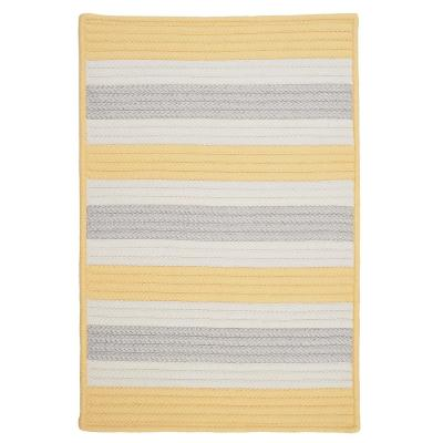 Home Decorators Collection Baxter Yellow Shimmer 2 ft. x 3 ft. Indoor/Outdoor Braided Area Rug