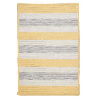 Baxter Yellow Shimmer 5 ft. x 8 ft. Indoor/Outdoor Braided Area Rug