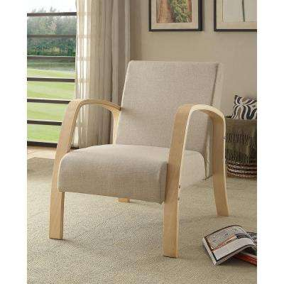 Danish Natural Polyester Arm Chair