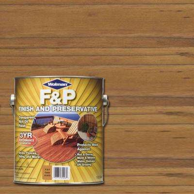 1 gal. F&P Cedar Exterior Wood Stain Finish and Preservative (4-Pack)