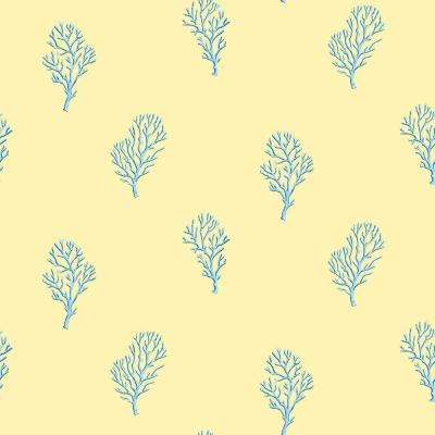 Beach Nautical Yellow Wallpaper Home Decor The Home Depot