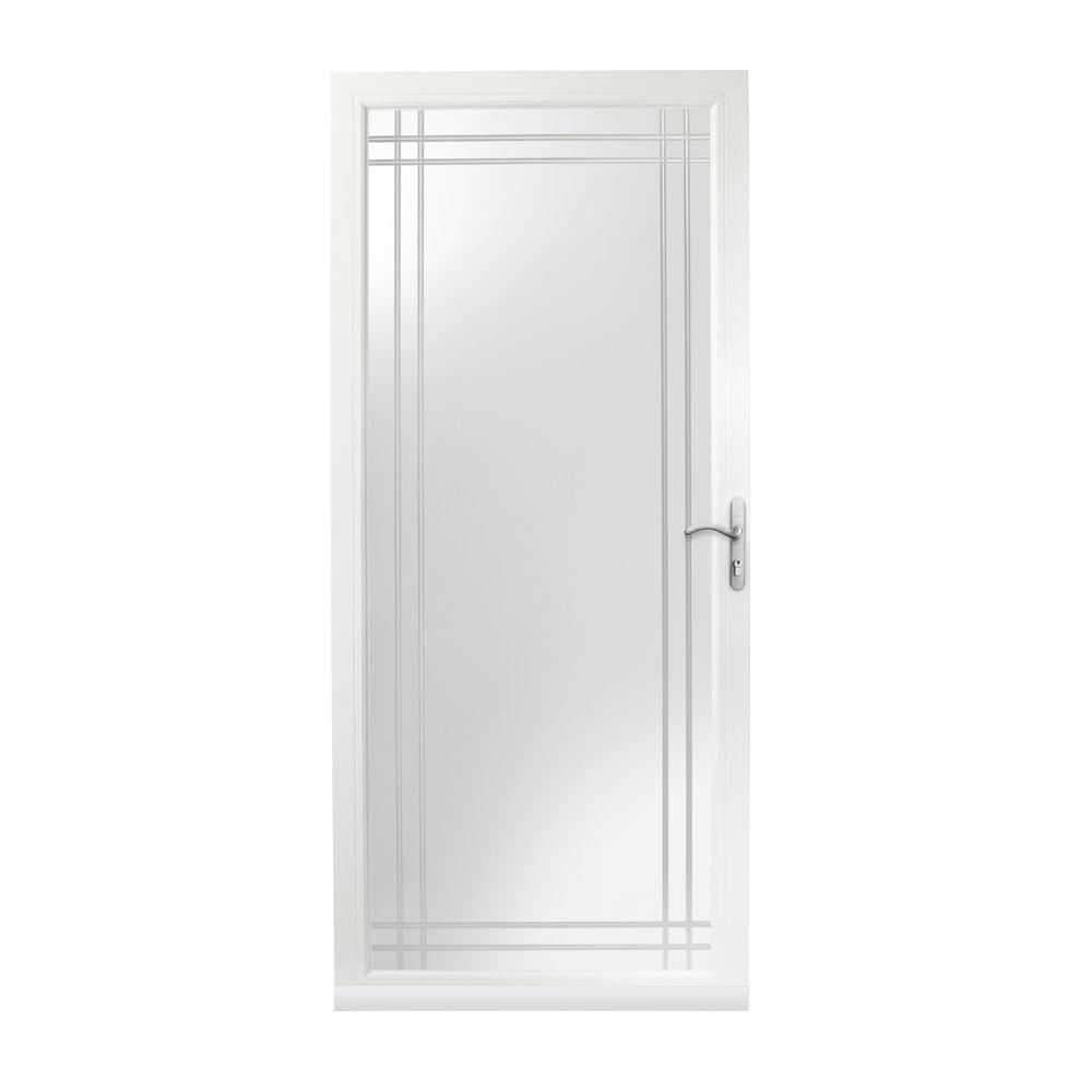 Andersen 36 in x 80 in 3000 series white right hand for Sliding storm doors home depot