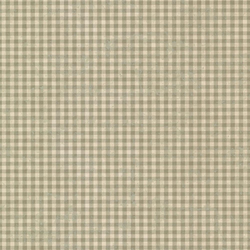 Greer Sage Gingham Check Wallpaper