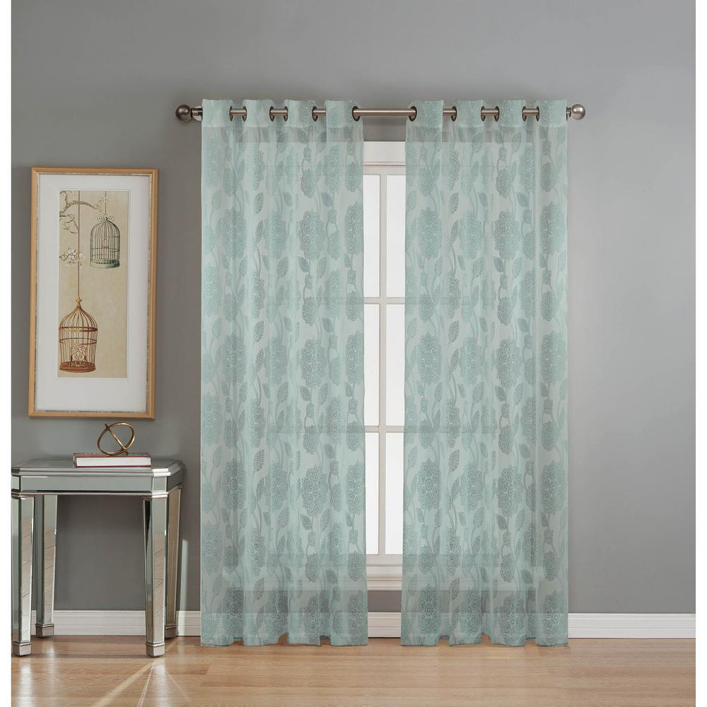 Window Elements Sheer Avery Cotton Blend Burnout Sheer Extra Wide 84 ...