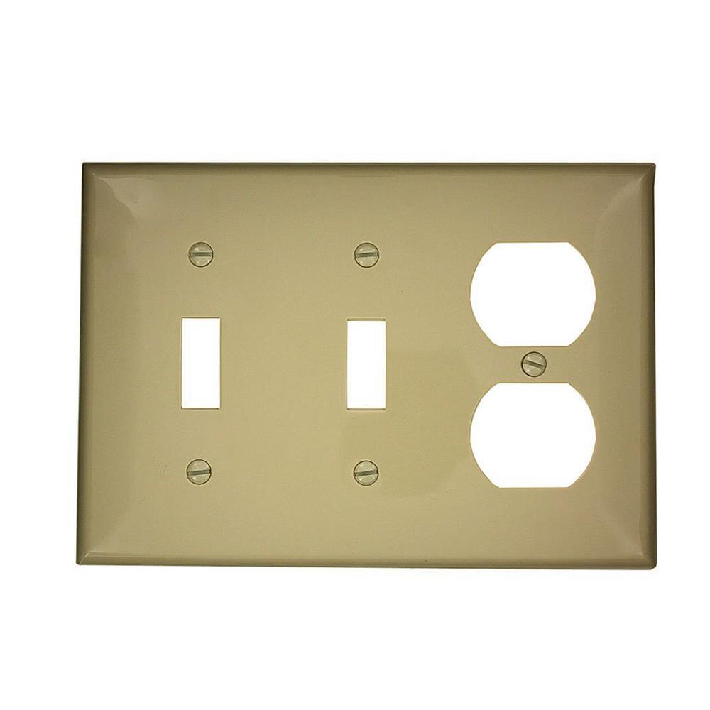Preferred WH1006-Ivory 6-Gang Ivory Toggle Leviton 80736-I Style Wall Plate NIB