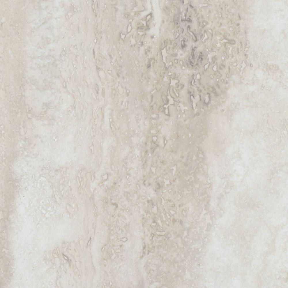 TrafficMASTER Take Home Sample - Allure Ultra Tile Aegean Travertine White Resilient Vinyl Flooring - 4 in. x 4 in.