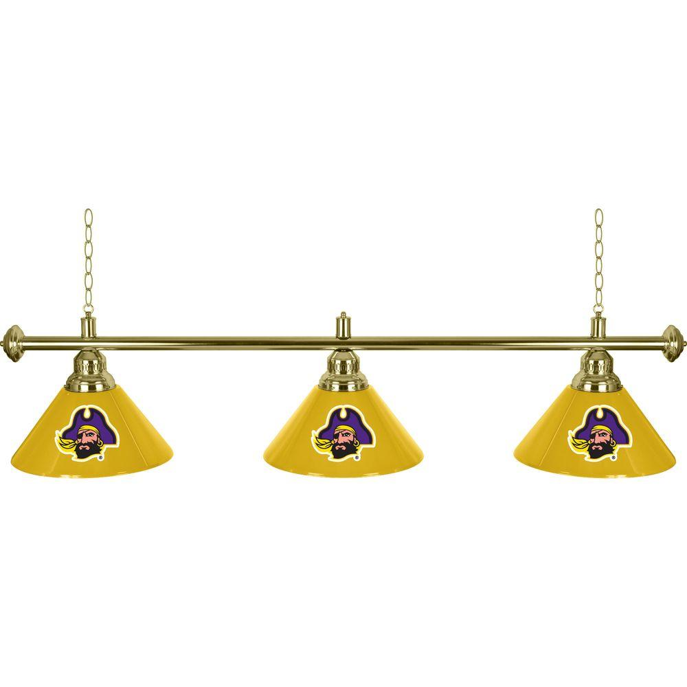 NCAA 3-Light East Carolina University Billiard Lamp
