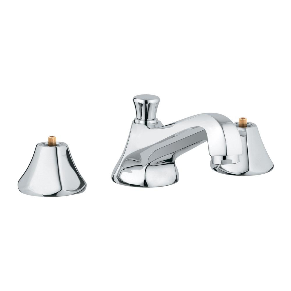 Grohe Somerset 8 In Widespread 2 Handle 1 2 Gpm Bathroom Faucet In Starlight Chrome 2013300a