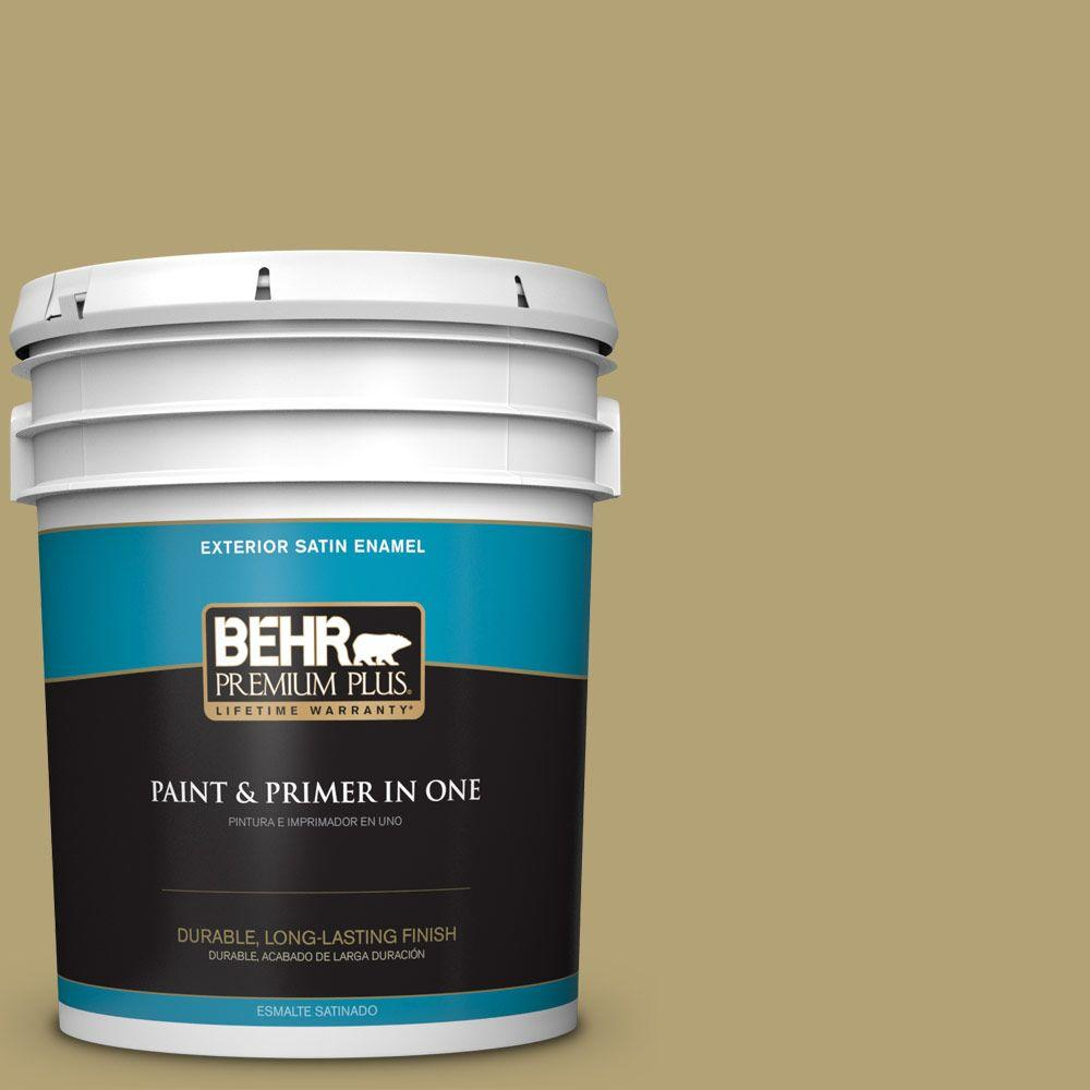 BEHR Premium Plus 5-gal. #PMD-101 Green Fig Satin Enamel Exterior Paint