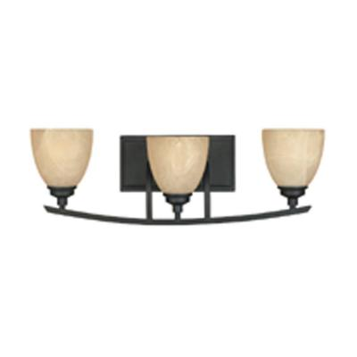 Tackwood 3-Light Burnished Bronze Wall Light