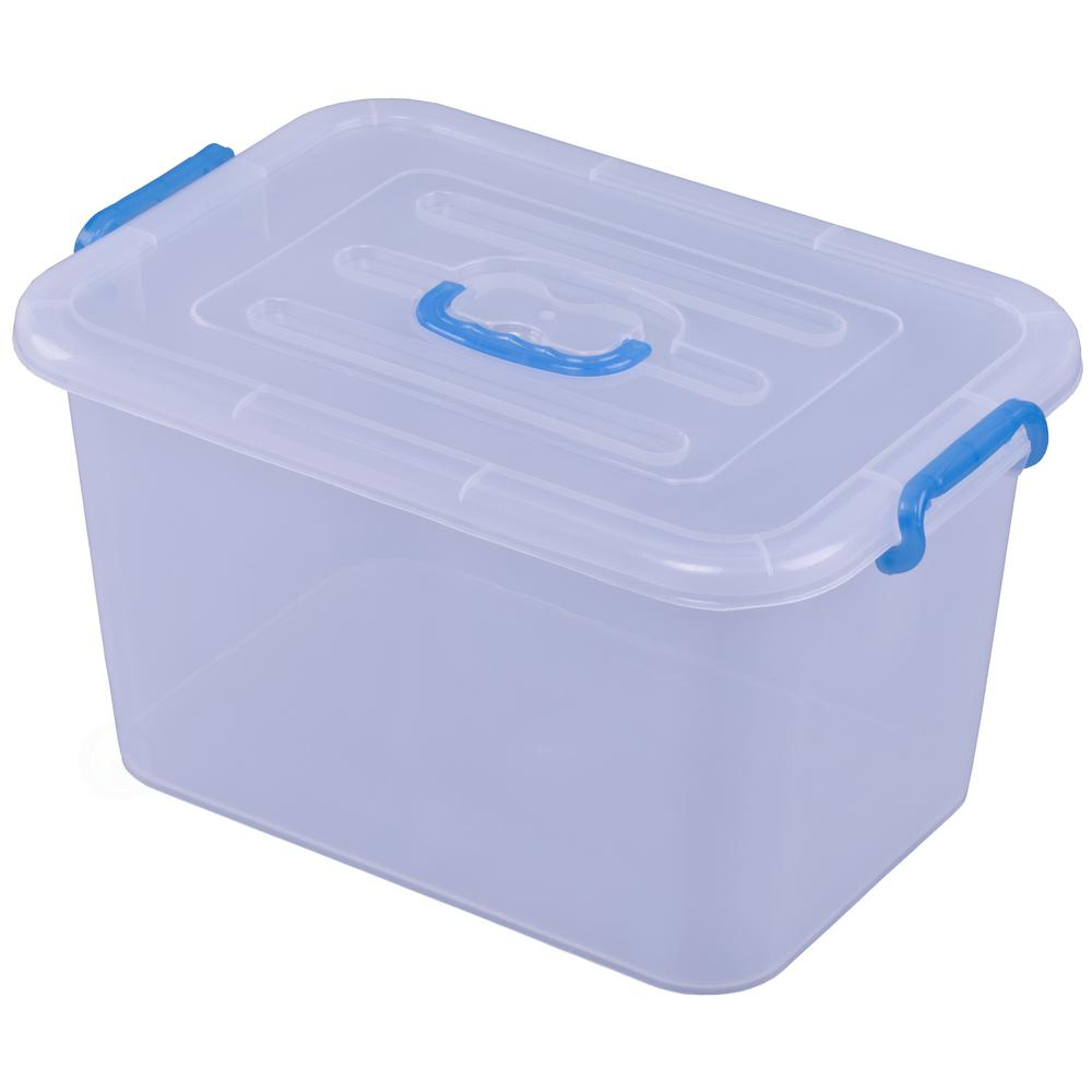 Basicwise 5.36 Gal. Large Clear Storage Container With Lid and Handles