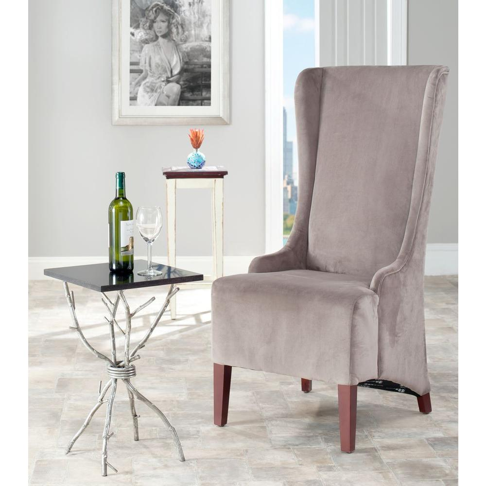 Salle A Manger Gris Taupe: Safavieh Bacall Mushroom Taupe Cotton Dining Chair