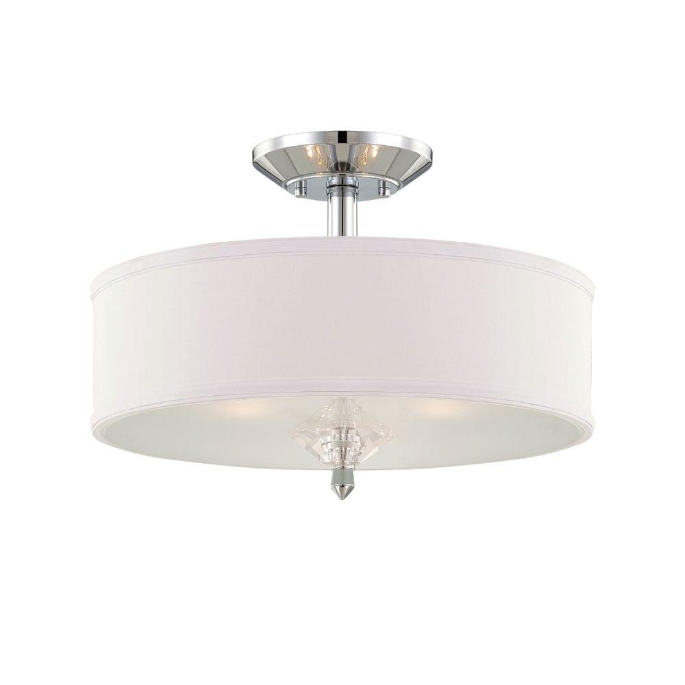 Designers Fountain Palatial 3 Light Chrome Interior Incandescent Semi Flush Mount 84211 Ch The