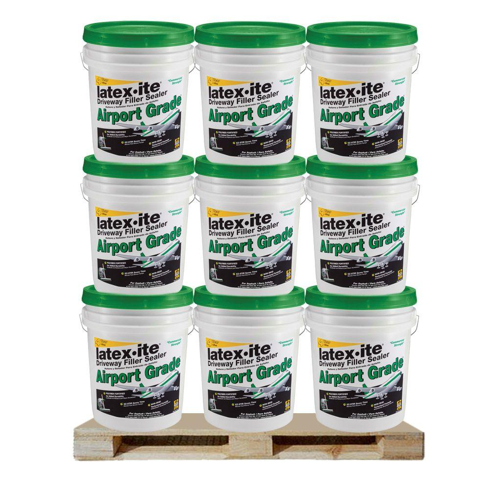 Latex Ite 4 75 Gal Airport Grade Driveway Filler Sealer 36 Pails Pallet 73066p The Home Depot