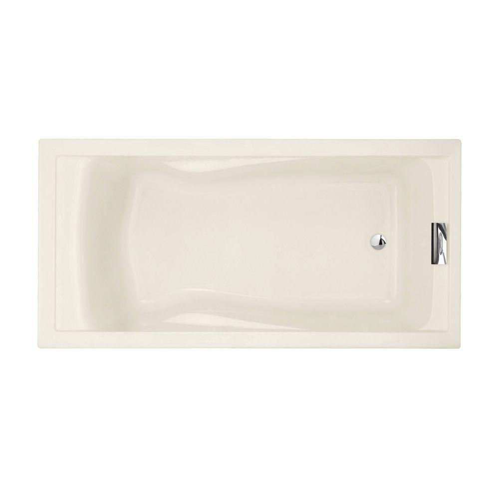 Evolution 6 ft. Reversible Drain Deep Soaking Tub in Linen