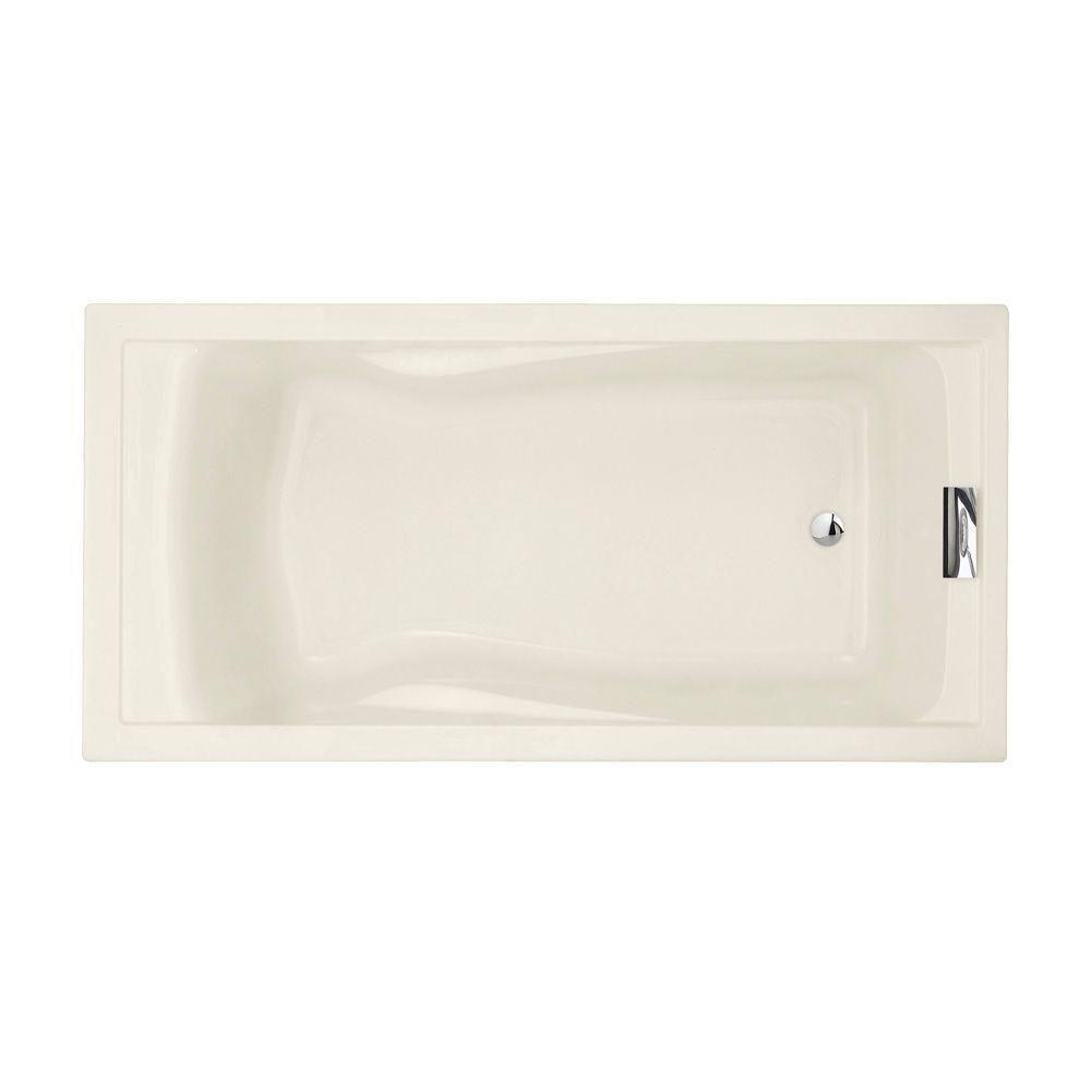 Evolution 6 ft. Reversible Drain Deep Soaking Tub in Linen