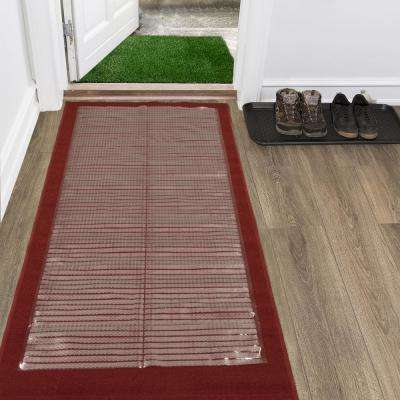 Clear 2 ft. 2 in. x 12 ft. Vinyl Carpet Protector Runner Mat