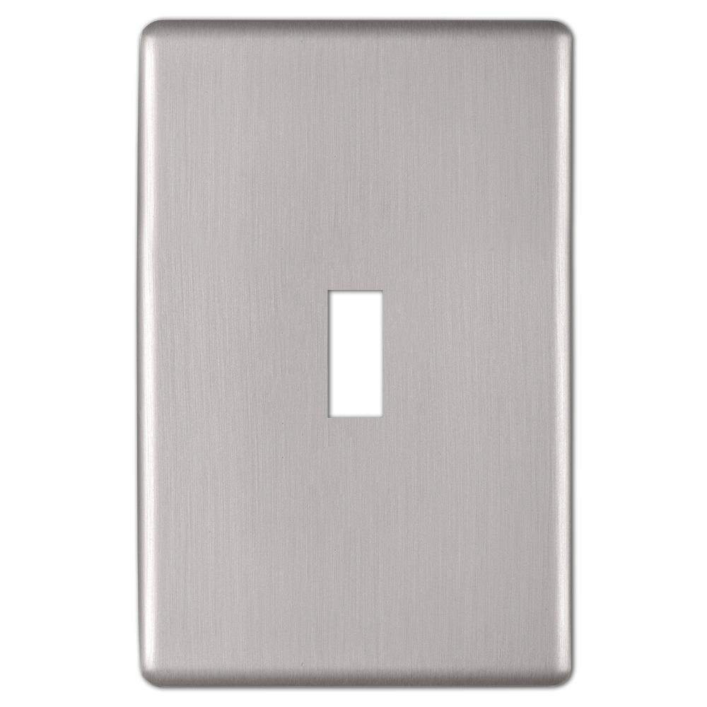 Kentley 1 Gang Toggle Steel Wall Plate - Brushed Nickel