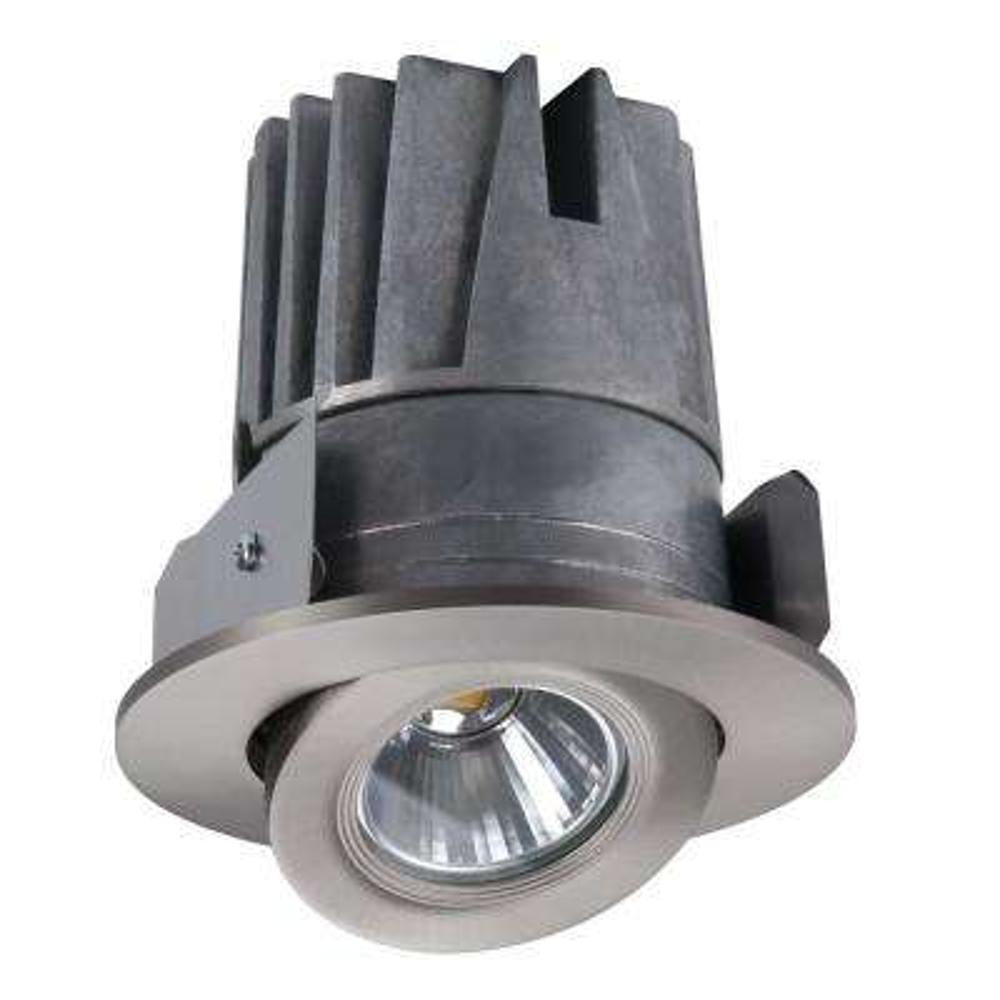 4 in. Satin Nickel Gimbal Trim and Light Engine (3000K)