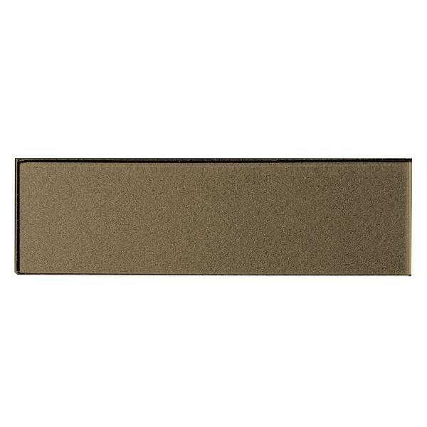 ABOLOS Subway 3 in. x 12 in. Handmade Metallic Bronze Glossy