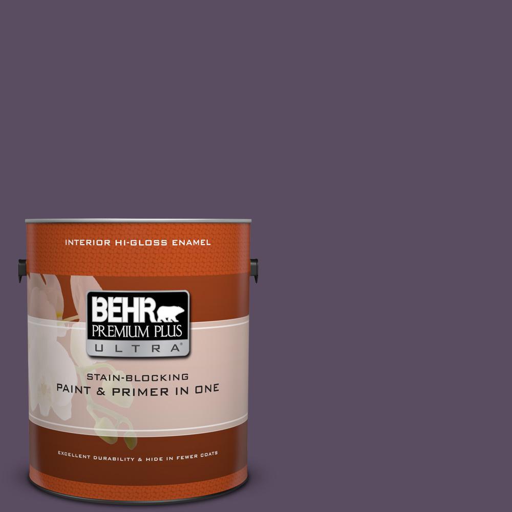 1 gal. #660F-7 Napa Grape Hi-Gloss Enamel Interior Paint