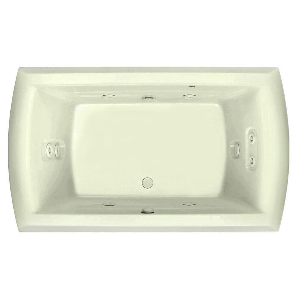Riviera Motif 6 ft. Rectangular Drop-in Center Drain Acrylic Whirlpool Bath