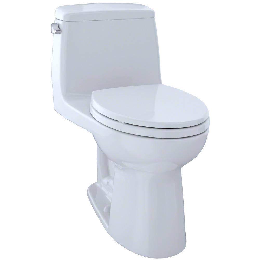 TOTO Eco UltraMax 1-Piece 1.28 GPF Single Flush Elongated Toilet with CeFiONtect in Cotton White