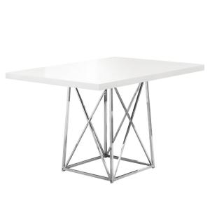 Jasmine White Metal Dining Table for (Seats of 4)