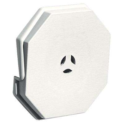 6.625 in. x 6.625 in. #123 White Surface Universal Mounting Block
