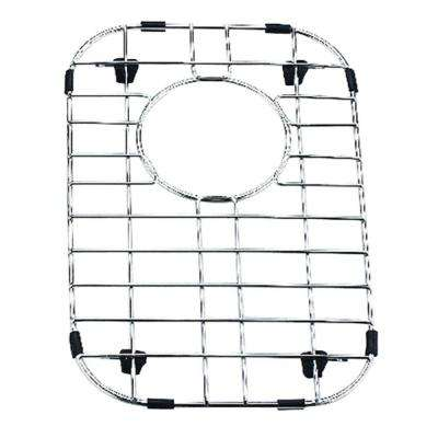 9 in. x 14 in. Stainless Steel Sink Grid with Black Rubber Feet