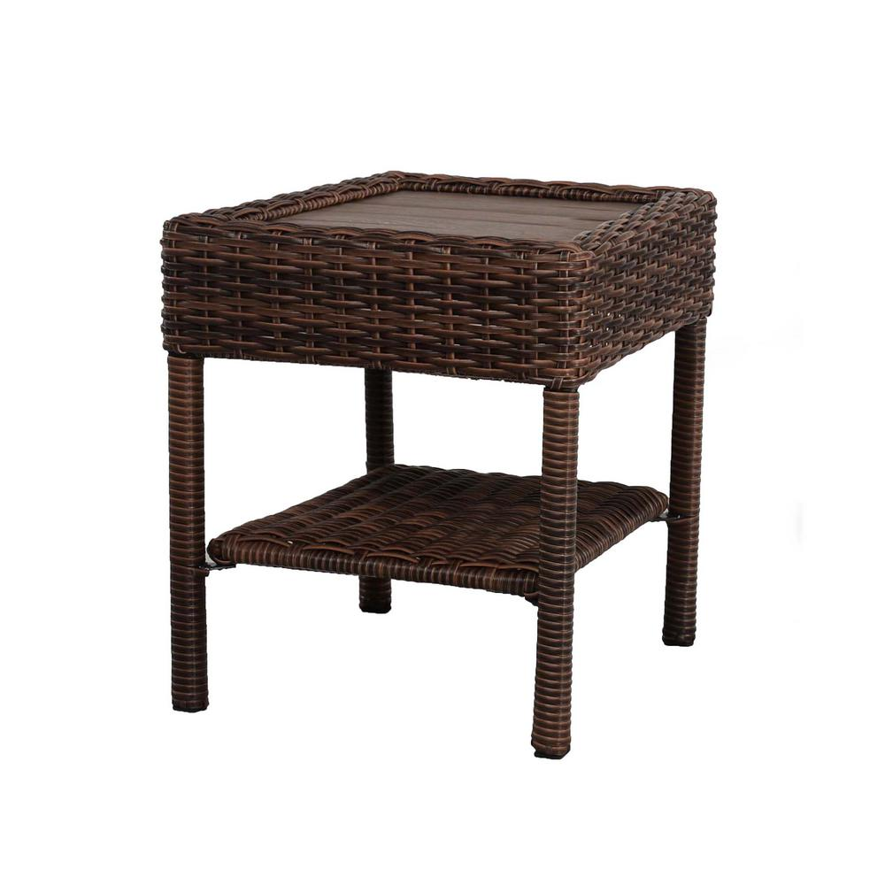 Hampton Bay Cambridge Brown Wicker Square Outdoor Side Table on home depot furniture store, home depot all weather wicker furniture, home depot front porch furniture, home depot furniture sets, home depot office furniture, home depot replacement windows, home depot temo sunrooms, home depot backyard furniture, home depot bathroom furniture, home depot garden furniture, home depot bath furniture, home depot bedroom furniture, home depot screen porches, at home depot wicker furniture, home depot kitchen furniture, home depot unfinished furniture, home depot solariums, rattan furniture, home depot furniture outlet, home depot deck furniture,