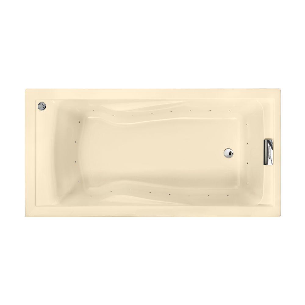American Standard Evolution EverClean 6 ft. Air Bath Tub in Bone