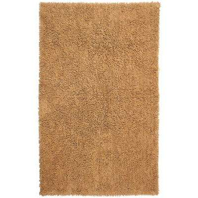Tan Shag Chenille Twist 2 ft. 6 in. x 4 ft. 2 in. Accent Rug