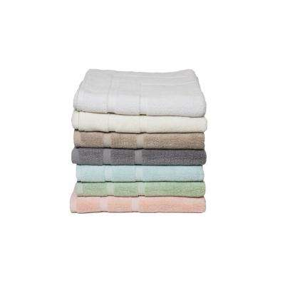 Diplomat 6-Piece 100% Cotton Bath Towel Set in Pacific