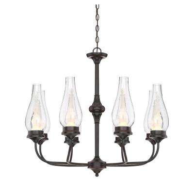 6-Watt English Bronze Integrated LED Chandelier