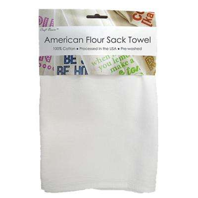 American 28 in. x 29 in. Soft White Flour Sack Towel (10-Pack)