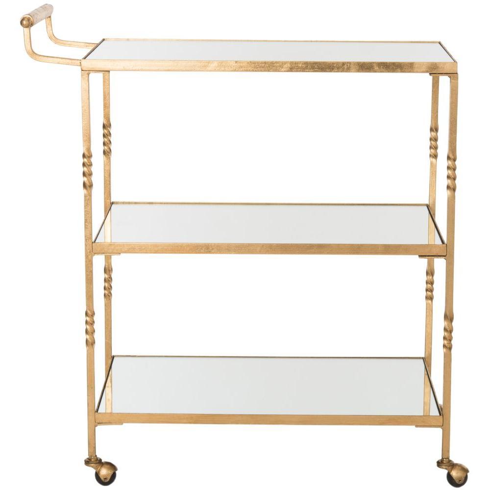 Safavieh Aurelius Gold Serving Cart FOX2557B