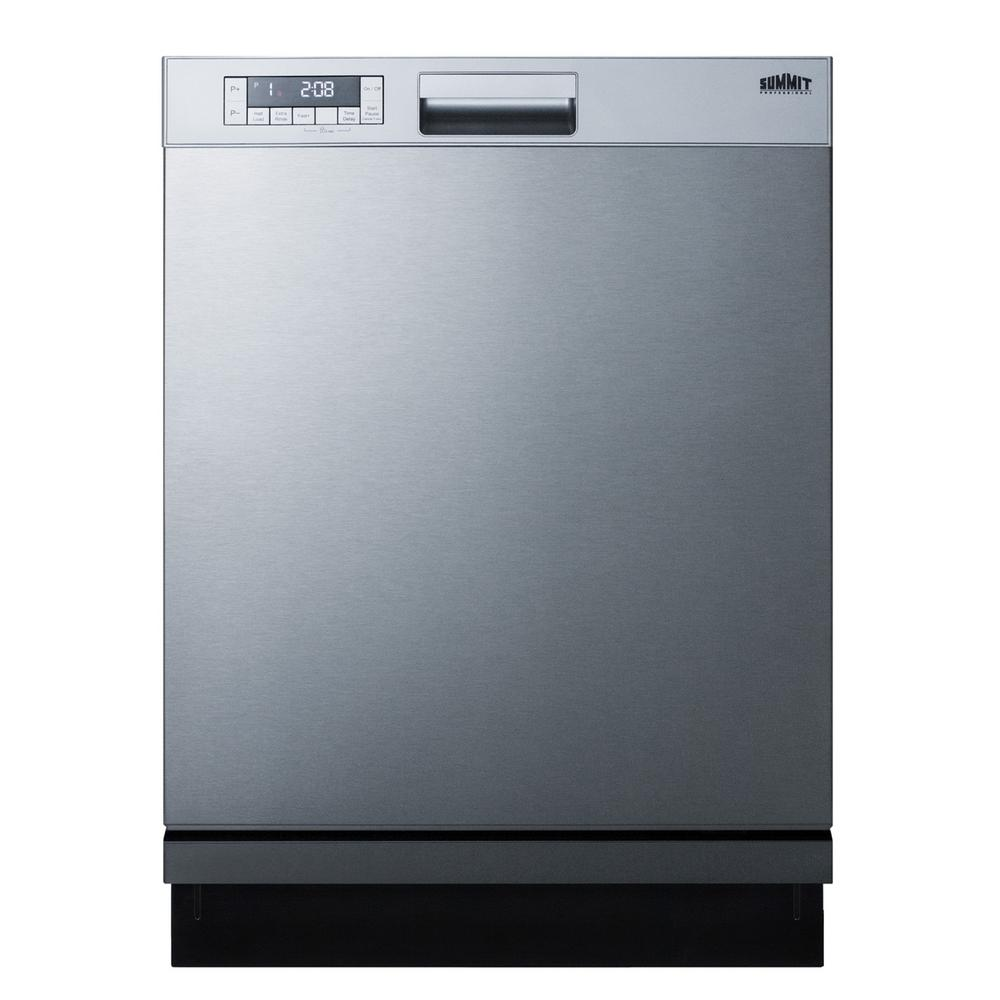 Summit Appliance 24 in. Front Control Dishwasher in Stainless Steel