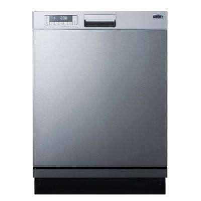 24 in. Front Control Dishwasher in Stainless Steel