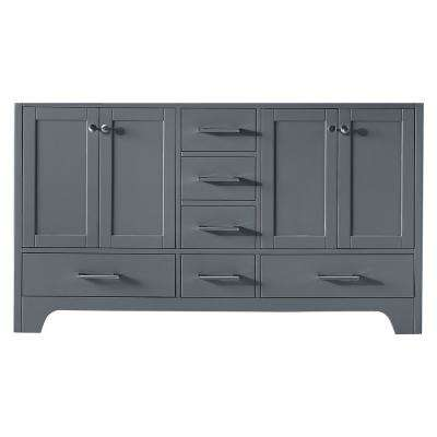 Clariette 59.2 in. W x 21.7 in. D x 33.5 in. H Bath Vanity Cabinet Only in Cashmere Grey