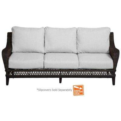 Woodbury Patio Sofa with Cushion Insert (Slipcovers Sold Separately)