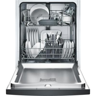300 Series 24 in. ADA Front Control Dishwasher in Black with Stainless Steel Tub, 46dBA
