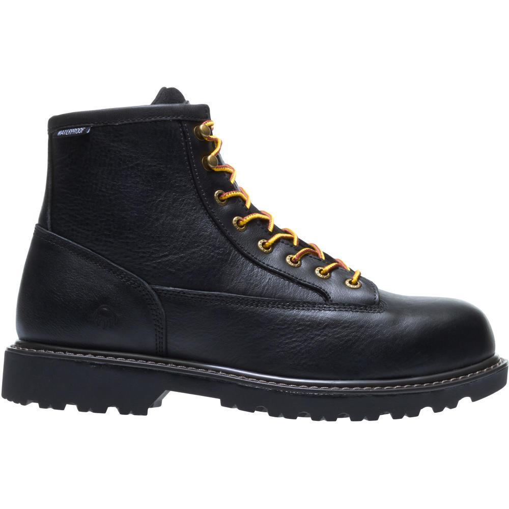 091f5a32714 Wolverine Men's Floorhand 2 Mid 9M Black Full-Grain Leather Waterproof  Steel Toe 6
