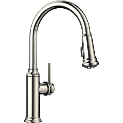 EMPRESSA Single-Handle Pull-Down Sprayer Kitchen Faucet in Polished Nickel