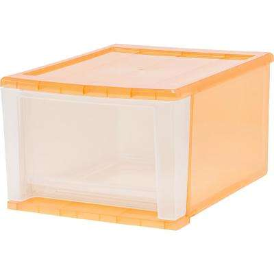 12.05 in. x 8.39 in. 17 Qt. Orange Stacking Drawer (4-Pack)