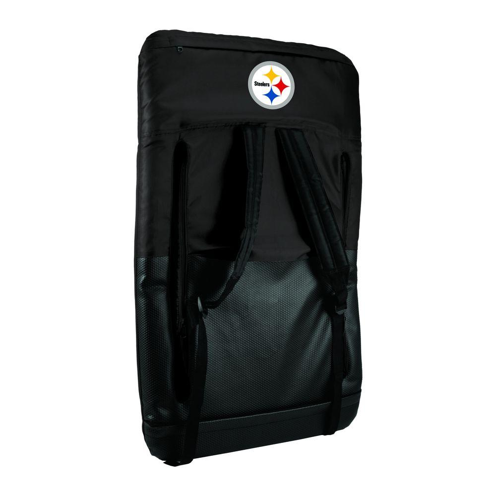 Ventura Pittsburgh Steelers Black Patio Sports Chair with Digital Logo
