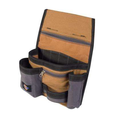 11-Pocket Construction Tool Pouch / Holder, Tan