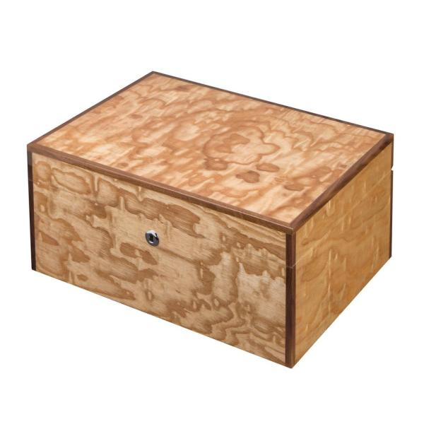 Liberty Birdseye Maple Exotic Wood Humidor Holds 100 Cigar Case