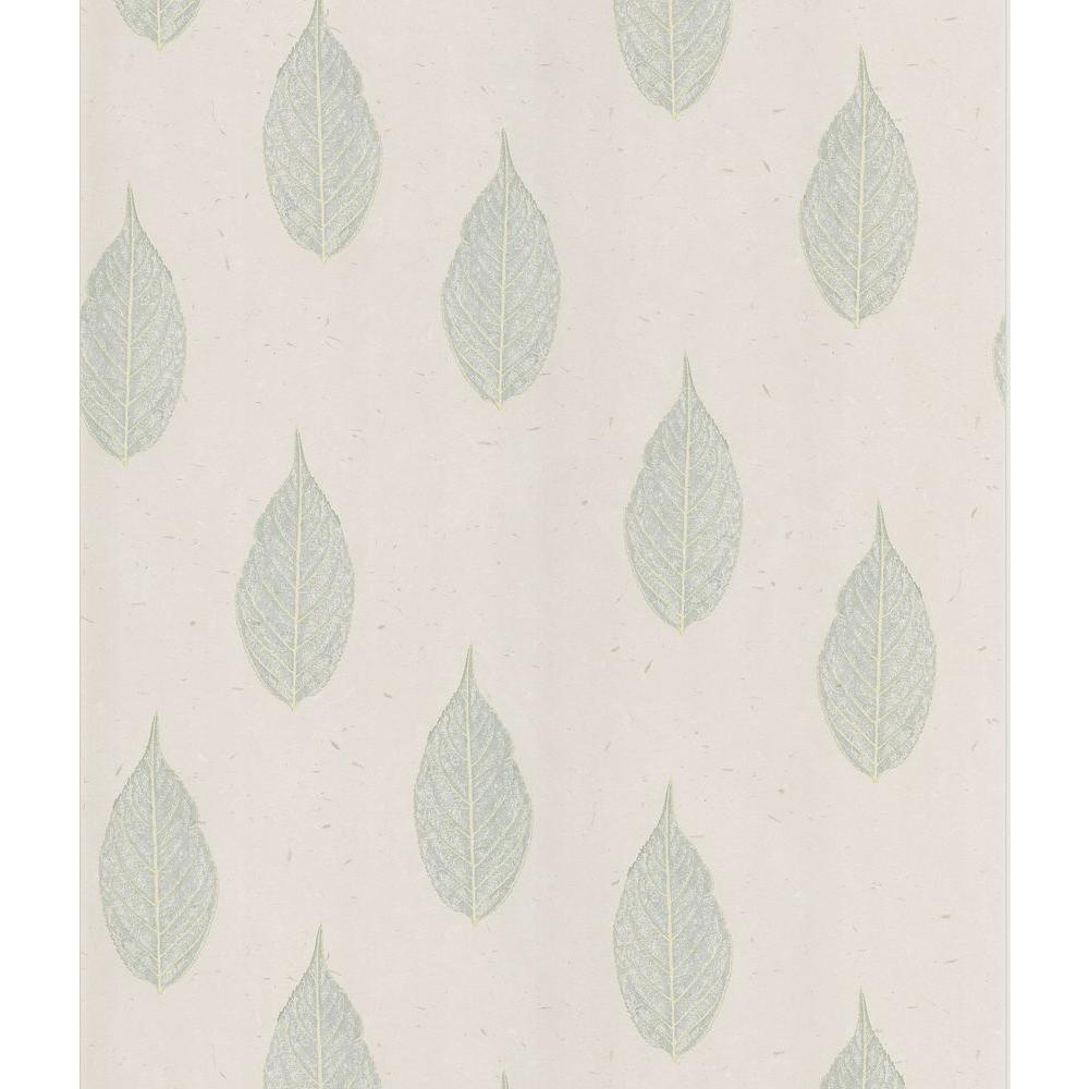 Madhya Light Grey Leaf Toss Wallpaper Sample